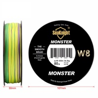 Best Quality Monster W8 500M Braided Fishing Line Saltwater Wire 8 Strands Wide Angle Technology Multifilament