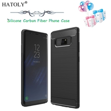 HATOLY For Cover Samsung Galaxy Note 8 Case Armor Shockproof Soft Rubber Phone Case for Galaxy