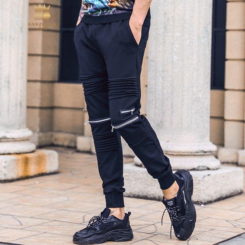 Slim 928011 Diseño Personalidad Gratis Los Hombres Pantalones 2019 Envío Fanzhuan Nuevo Cremallera Harlan De Primavera Hombre Moda Falda Tqwz4W7xR