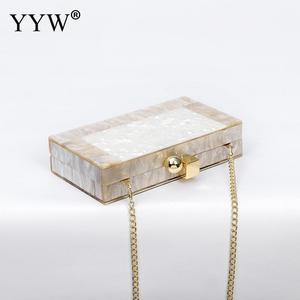 Image 2 - YYW Marblingสีขาวอะคริลิคกล่องกระเป๋าคลัทช์กระเป๋าถือผู้หญิงBgas Designer Pochette Femme Clutchฤดูร้อนอะคริลิคกระเป๋า