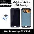 100% LCD de la Original para Samsung Galaxy E5 E500 pantalla LCD pantalla táctil digitalizador de montaje de Color gris piezas de repuesto con herramienta