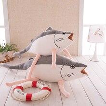 Игрушек! Супер милые плюшевые игрушки мультфильм Аниме Коллекция соленая рыба скумбрия Мягкая кукла подушка подарок на день рождения