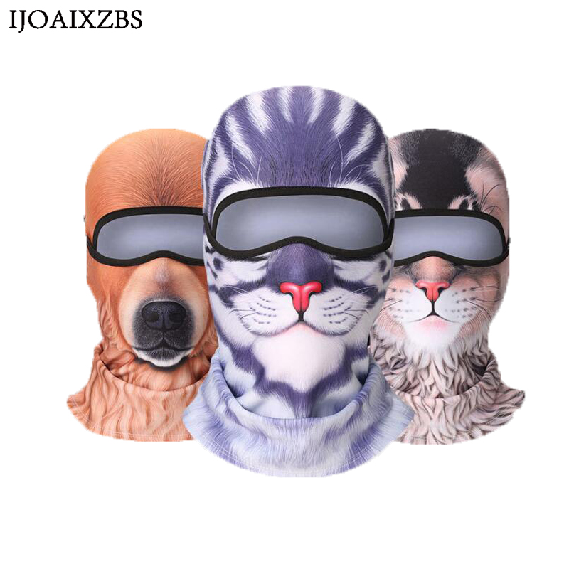Animal Full Face Head Mask High Quality Velet Cycling Skiing Skull Cap Helmet Balaclava Hat Halloween Winter Protection KeepWarm 2016 promotion winter hat warm outdoor sport visor sun high quality cap with ears casquette motorcycle mask balaclava headgear