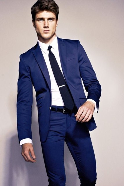 Aliexpress.com : Buy Royal Blue Mens Suit Jacket Pant M 0771 ...