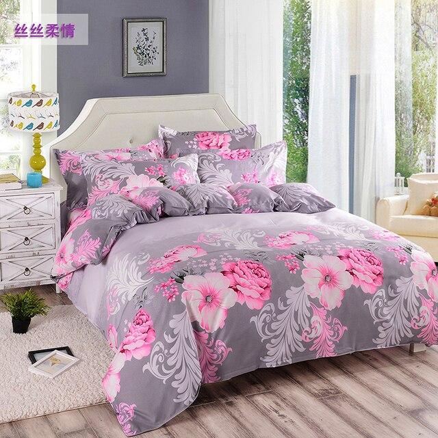 2017 Wholesale Big Jacquard Bedclothes Bedding Sets Duvet Cover + Bed Sheet  + Pillowcase King Size