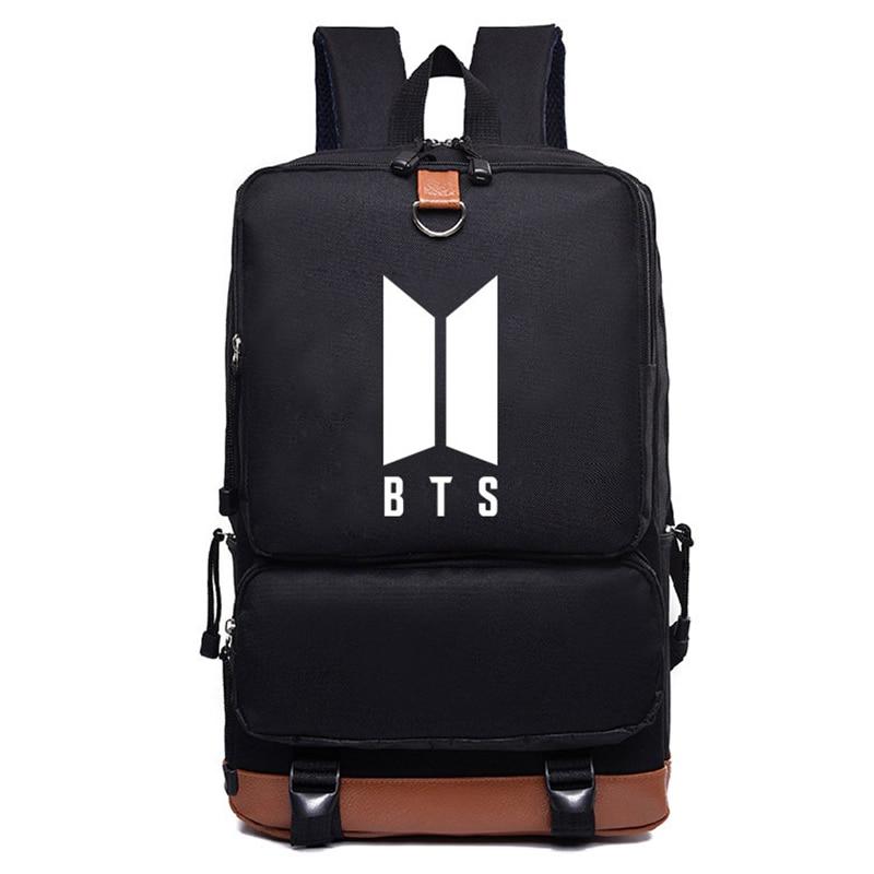 2017 Bulletproof Boy Scouts BTS Backpack Bts Printing Backpack Canvas School Bags Mochila Feminina Travel Bags Laptop Backpack