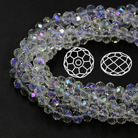 Wholesale AAA Top Quality Crystal 5040 Rondelle Beads Crystal Clear AB Color 4MM 6MM 8MM 10MM