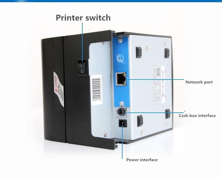 2018 nowy hurtownie wysokiej jakości 58mm drukarka pokwitowań termiczna prędkości drukowania maszyna 90mm/s port sieciowy lub portu USB