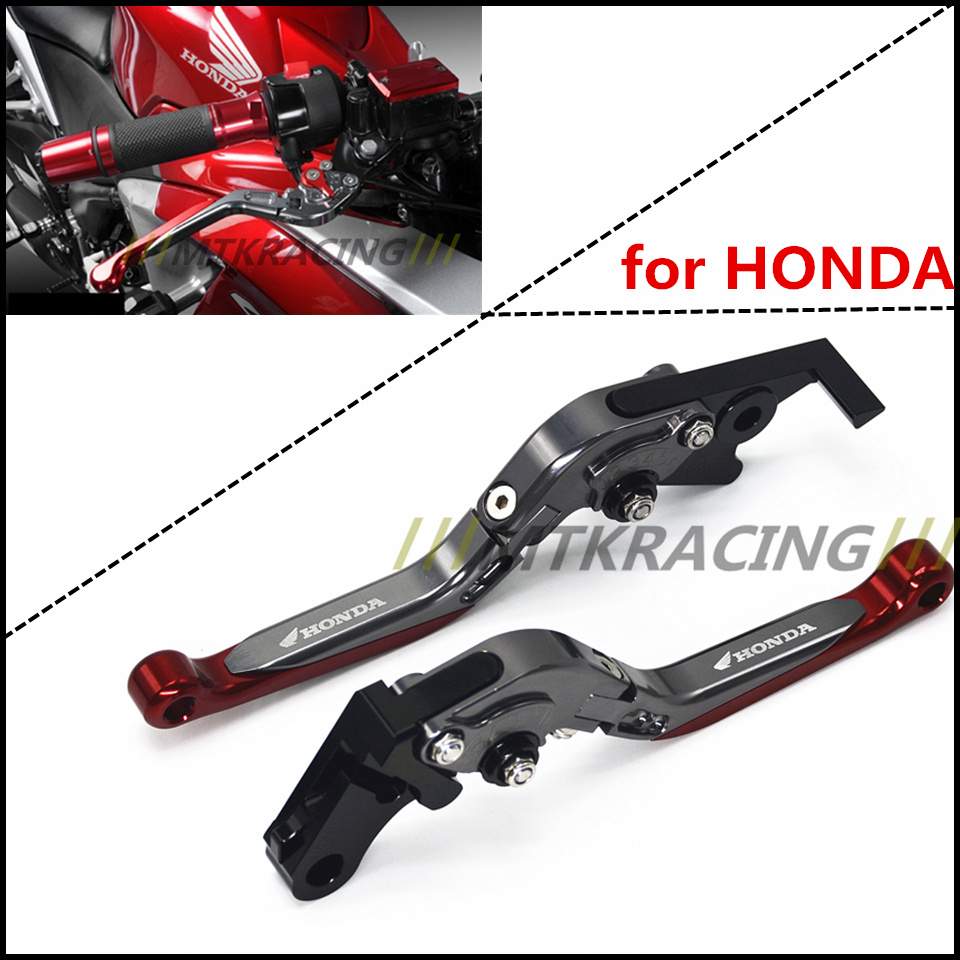 Aluminum Alloy Folding Clutch lever Brake Lever Fit HONDA GROM CBR250R Pit Dirt Bike Parts Free Shipping! asv clutch and brake folding aluminum lever for dirt bike pit bike spare parts