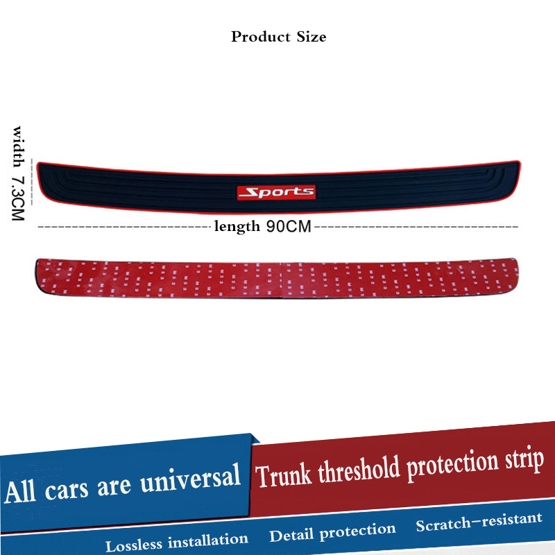 Car Trunk Door Crash Protection Strip Car Styling Scratch Protection Strip For Peugeot 307 308 207 3008 2008 407 508 206 208 406