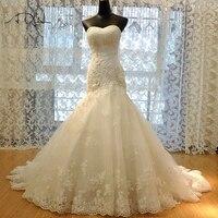 ADLN High Quality Lace Mermaid Wedding Dress 2018 Corset Bodice White/Ivory Bridal Gown Customized Vestidos de Novia Plus Size