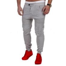 Men Pants Casual Elastic Cotton Mens Fitness Workout Pants Skinny Sweatpants Trousers Pants 22