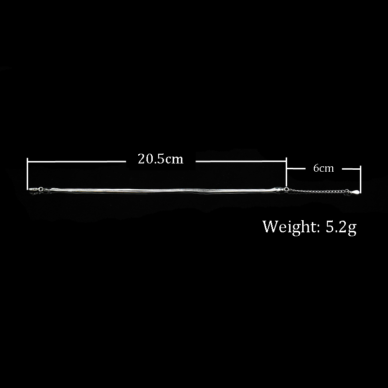Hot Sale Sexy Beach Multilayer Snake Bones Anklets Foot Chain 925 Sterling Silver Foot Anklet Bracelet For Fashion Women Jewelry 5
