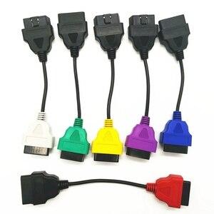 Image 3 - Neueste 6 Farbe Auto OBD2 Anschluss Diagnose Adapter Kabel für FiatECUScan und Multiecuscan für Fiat Alfa Romeo und für Lancia