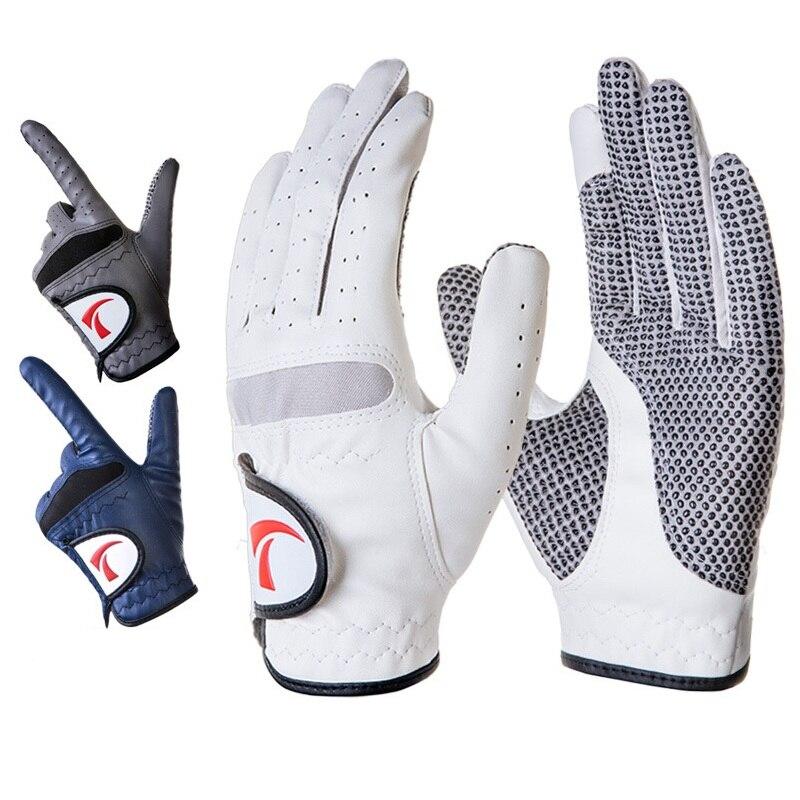 Luvas de Golfe de Couro Luvas de Golfe Esportes ao ar Masculino Respirável Macio Esquerda Anti-derrapagem Homem Wear-resistant Livre Luvas D0631 Mão