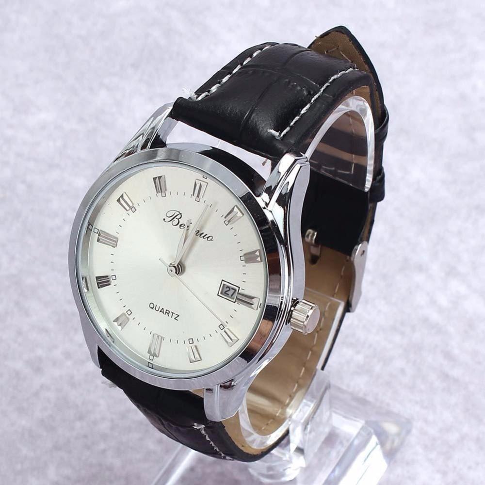 Men s Luxury Sport Analog Quartz Stainless Leather font b Watches b font Wrist font b