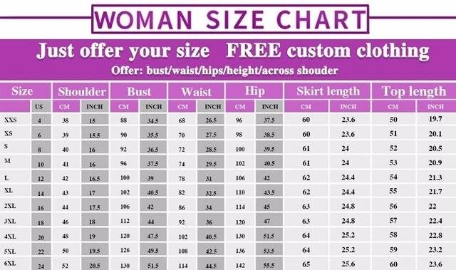 女装尺码表