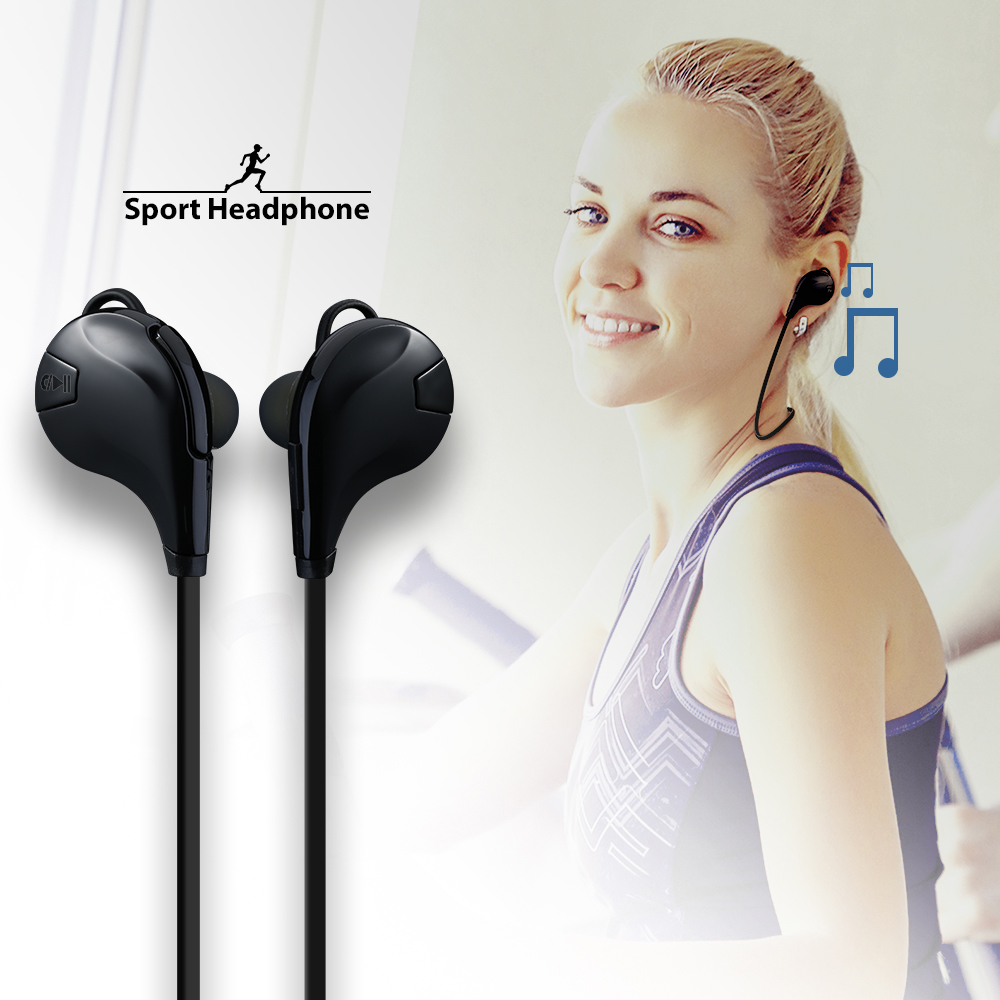 VTIN Bluetooth Earphone V4.0 Wireless Sport Headphones Music Stereo Sweat-proof Earbuds Headset w/ Mic for iPhone 7 6 6s Plus q2 mini bluetooth headset stereo wireless earphone headphones music car driver headset stealth earbuds mic with charging socket
