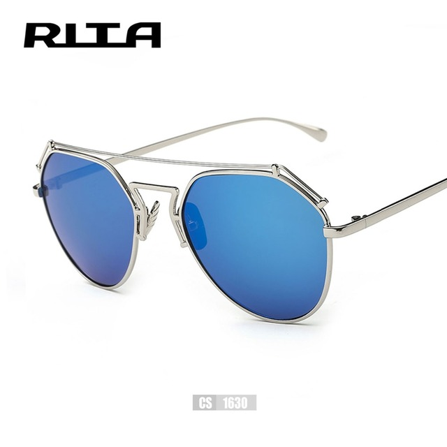 RITA Brand Designer Women Sunglasses Metal Wire Top Flat Sun glasses ...