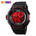 2017 skmei g estilo sport relojes moda casual reloj resistente a los golpes de pulsera digital led de luz negro para hombre relojes deportivos