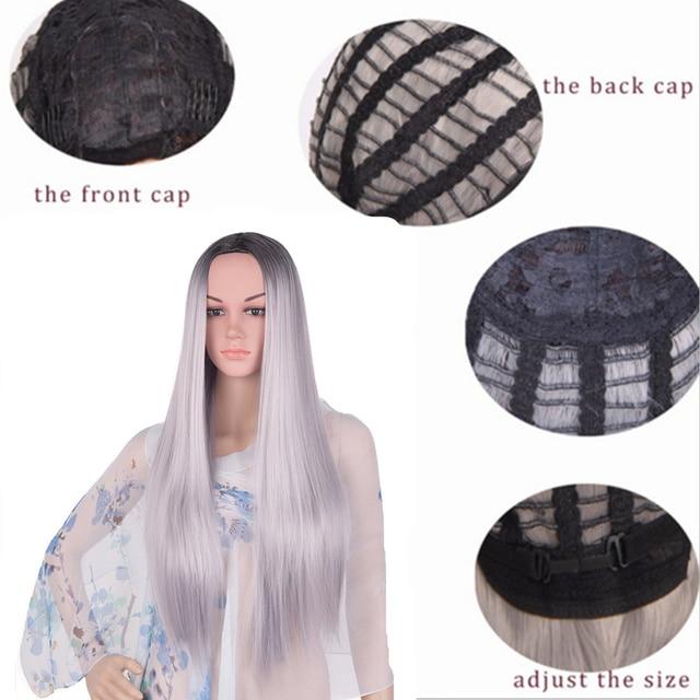 Long Straight Hair Full Head Wig 2