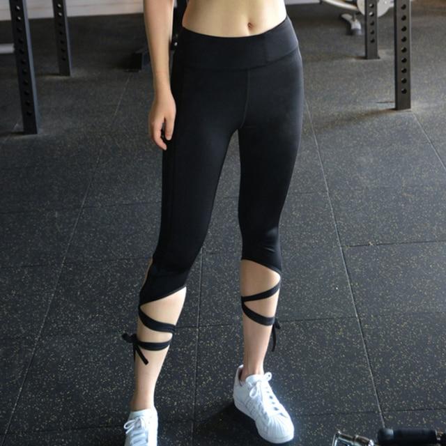 ca13151c2c0bf Yoga pants Ballet Spirit Bandage Workout Infinity Turnout Leggings White Yoga  Leggings Mallas Mujer Deportivas Fitness