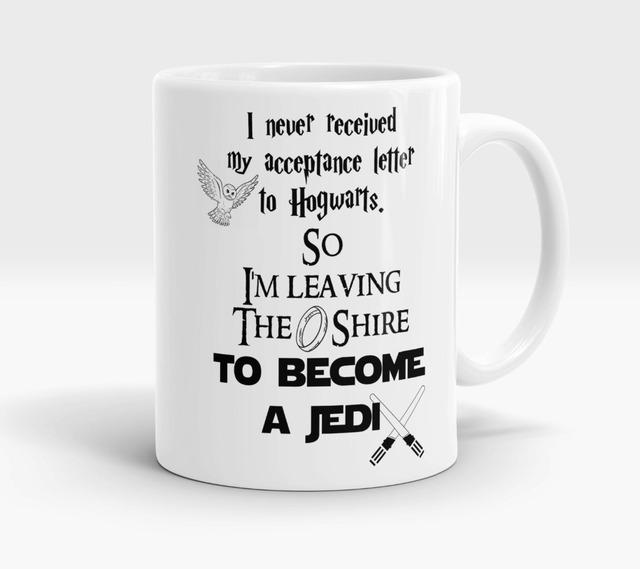 Hogwarts Shire Jedi Coffee Mug
