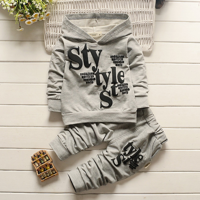 2016 primavera e no outono roupas infantis menino terno Com Capuz manga longa Crianças Conjunto de Roupas Meninos Miúdos vestuário frete grátis