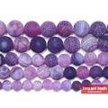 Бесплатная доставка натуральный камень Мороз Краб фиолетовый Агаты круглые свободные бусины 6 8 10 12 мм выберите размер для ювелирных изделий - фото