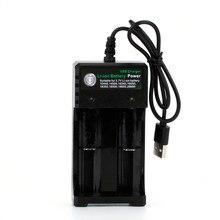 Катушка отец 2А 3,7 в 18650 одиночное/двойное зарядное устройство для литий-ионной батареи 16650 18650 14500 26650 18350 литиевая батарея