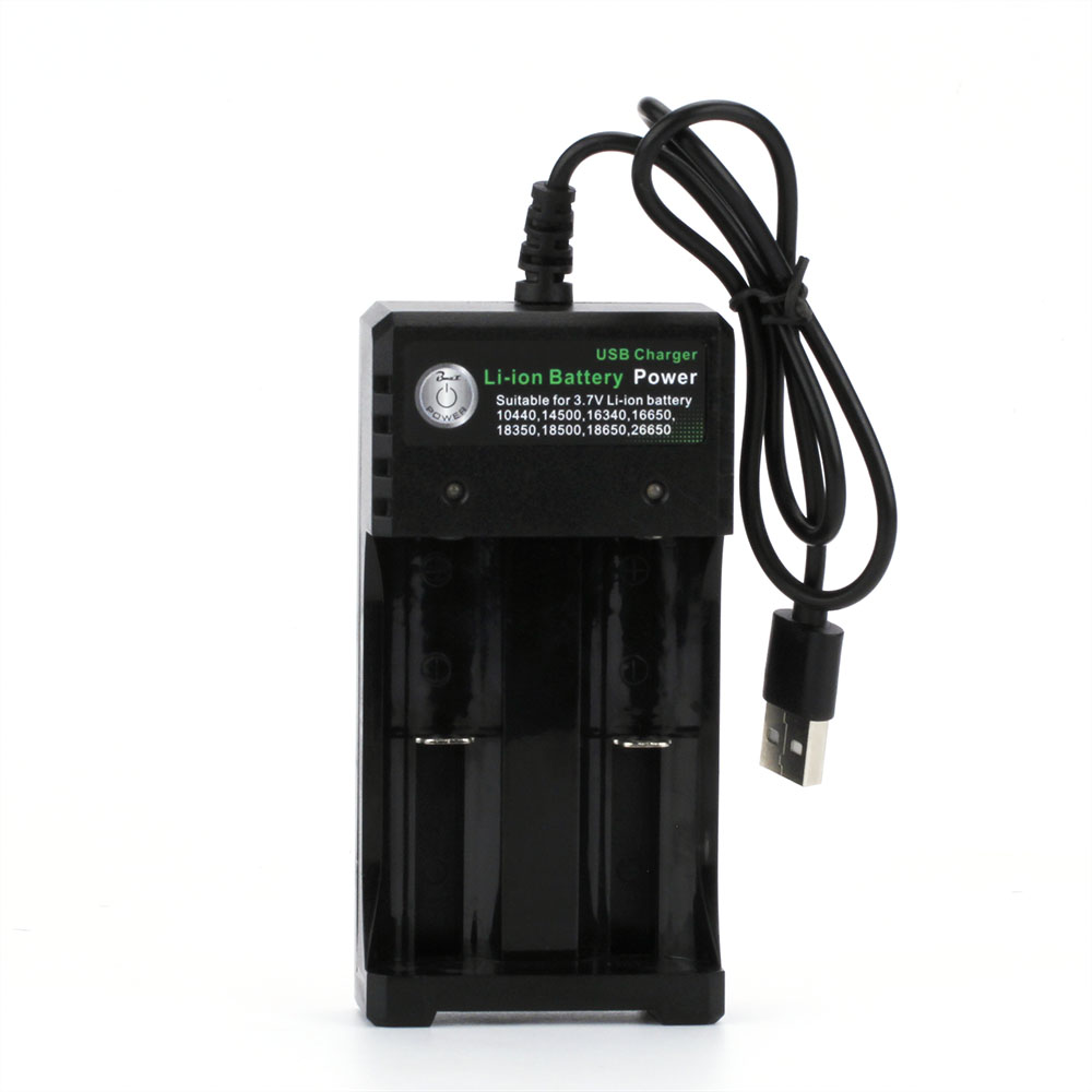 Coil Father 2A 3.7V 18650 Single/Dual Battery Charger For Li-ion Battery 16650 18650 14500 26650 18350 Lithium Battery