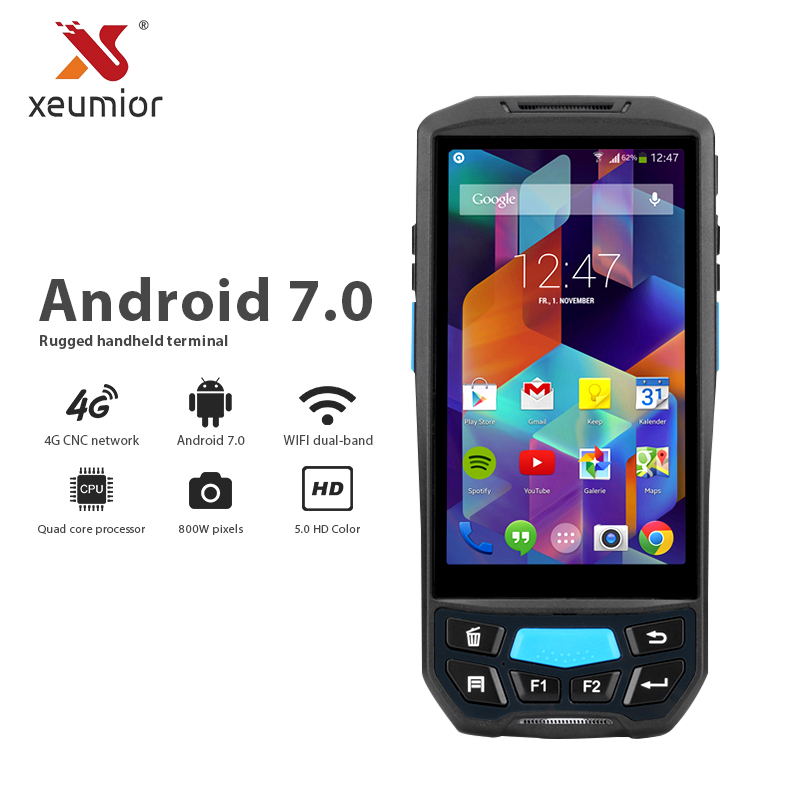 Android 7.0 Data Collector Pda 1D 2D Reader Wireless Bluetooth Wifi Camera GPS NFC UHF RFID Computer Terminal Barcode Scanner issyzonepos android 7 0 handheld pda wireless wifi bluetooth 1d 2d qr barcod scanner gps nfc uhf rfid handheld pos terminal