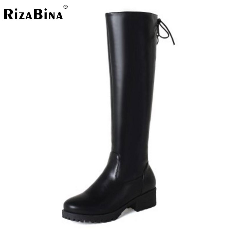 RizaBina Size 33-43 Women High Heel Boots Cross Strap Half Short Boots Thick Fur Shoes In Cold Winter Botas For Women Footwear coolcept size 34 43 women half short thick bottom boots cross strap warm shoes cold winter boots mid calf botas women footwear