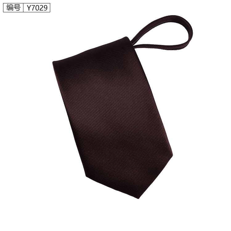 New 7cm Zipper Men Ties Business Fashion Style Slim Men Neck Tie Simplicity Design Solid Color For Party Lazy Formal Ties 13