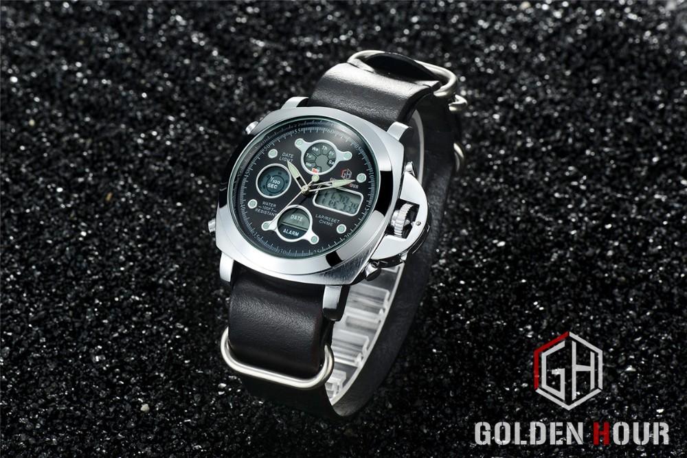 ผู้ชายแฟชั่นW Ristwatcheหรูหราร้อนแบรนด์ฉลามนาฬิกาสไตล์ผู้ชายสายหนังนาฬิกากีฬานาฬิกาที่มีคุณภ... 15