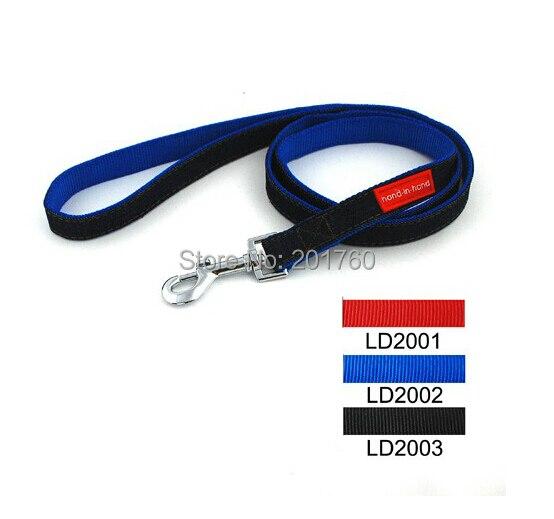 120*2cm Pure color Lively Pet Dog Denim Nylon Lead (3 colors) 12pcs/lot Free shipping LD2001