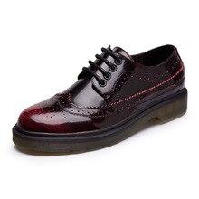 free shipping 2017 Spring women shoes british style platform genuine leather fashion flats women fashion shoes