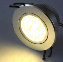 3W/4W/5W/7W/9W/12W LED Ceiling Light Fixture Spotlight Recessed Lamp Bedroom Vestibule Canteen Silver Shell