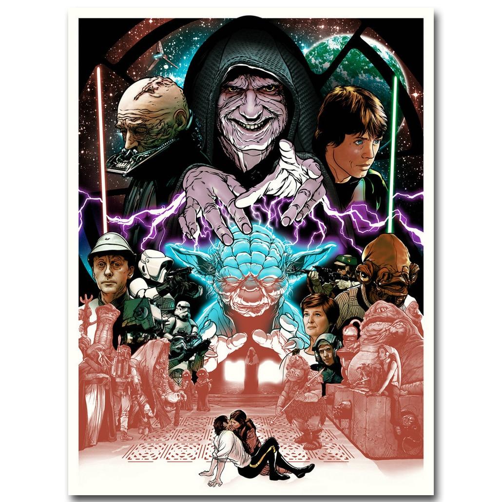 US $4.79 20% OFF|Darth Vader Star Wars Episode IV Eine Neue Hoffnung Kunst  seide Stoff Plakat druck 13x18 24x32 Film Bild für Raum wand dekor 059-in  ...