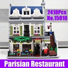 2017 New Lepin 15010 Expert City Street Parisian Restaurant Model Building Kits Blocks Educational Children Toy Compatible 10243