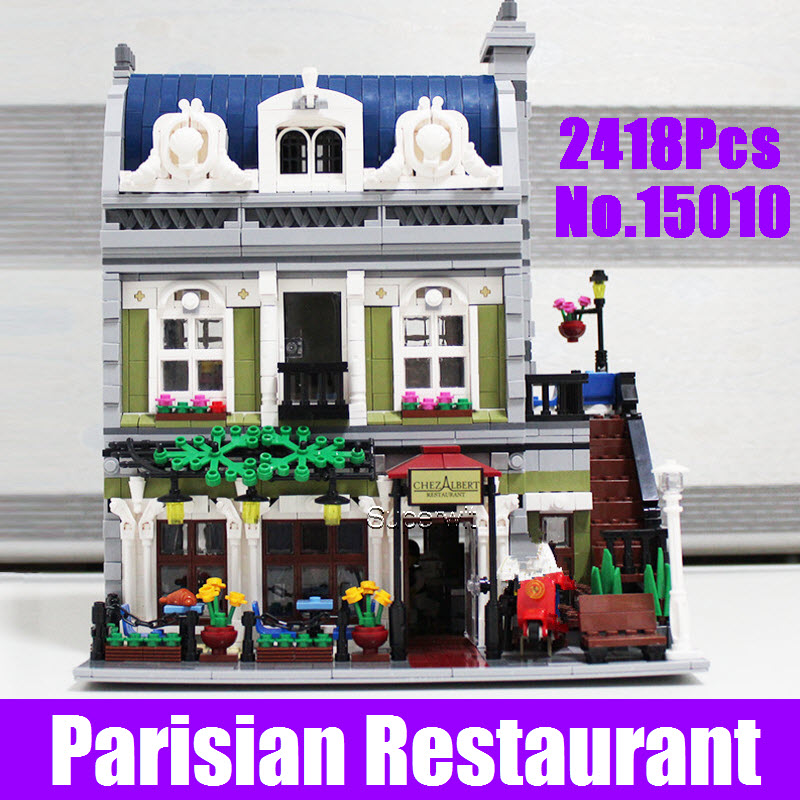 2017 New Lepin 15010 Expert City Street Parisian Restaurant Model Building Kits Blocks Educational Children Toy Compatible 10243 new lepin 16008 cinderella princess castle city model building block kid educational toys for children gift compatible 71040