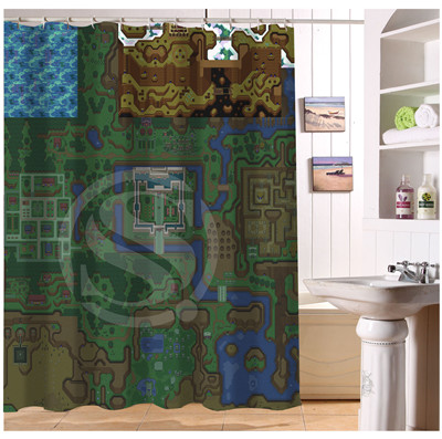 Attractive U408 17 Custom Home Decor The Legend Of Zelda Map Background Fabric Moden Shower  Curtain European Style Bathroom Waterproof In Shower Curtains From Home ...