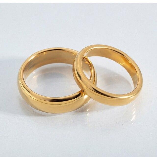 Купить женские и мужские кольца из вольфрамовой стали золотого черного