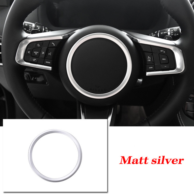 Yctze Car Steering Wheel Sticker,U-shape Steering Wheel Frame Trim Sticker Cover Fits for XE//XF//f-pace E-PACE