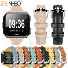 New watch bracelet belt watchbands For Fitbit Versa leather strap band accessories sport wristband