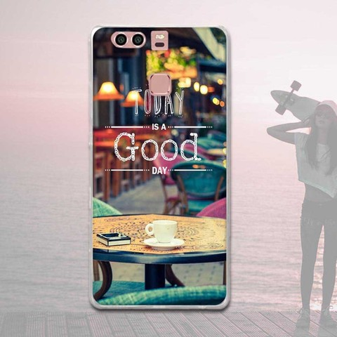 Silicone Case For Huawei P9 Case Back Cover For Huawei P9 EVA-L09 EVA-L19 EVA-L29 5.2 inch Phone Cases Painted Soft TPU Covers Islamabad