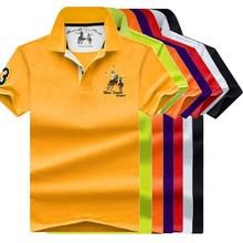 2019 summer 100% mesh import pique cotton big horse men 3 embroidery logo polo shirts fashion brand polo shirts 8026