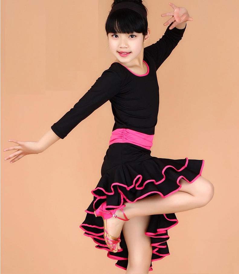 Latin Competition Dance Dress For Girls XS-XXL Size Latina Dress Kids Salsa Clothes Tango Dress Children Stage Ramba Costumes