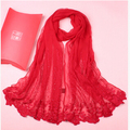 women solid color embroidered silk scarf female  large long fashion black pink embroidery 100% silk shawl scarves shawls175*55cm
