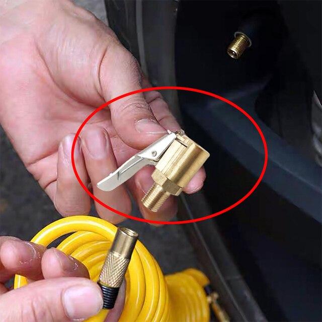 1 Xe Ô Tô Tự Động Đồng 8mm Lốp Bánh Lốp Xe Không Chuck Bơm Hơi Van Bơm Kẹp Cắm Bộ xe ô tô phụ kiện miễn phí vận chuyển